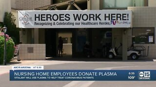 Nursing home employees donate plasma