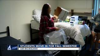 Thousands of UW Milwaukee students  expected to move into dorms  for fall semester - Video