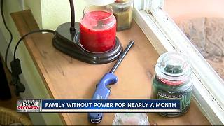 Family without power for nearly a month - Video