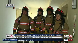 Hundreds to raise money for lung disease research by climbing 31 flights of stairs Saturday
