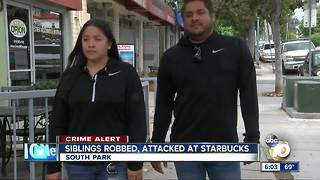 Siblings robbed, attacked at San Diego Starbucks