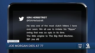 Cincinnatians mourn the death of baseball great Joe Morgan