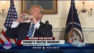 Sen. Rubio pokes fun at President after he drinks water - Video