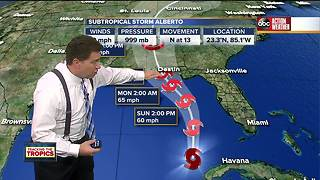 Alberto brings heavy rainfall to Tampa Bay Area, tropical storm warning in effect