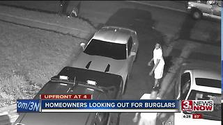 Papillion, La Vista homeowners watching out for burglars breaking into cars - Video