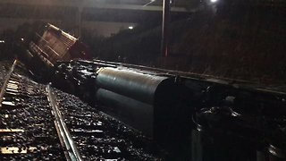 Workers Remove Freight Train After Michigan Derailment - Video