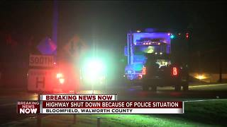 Highway 120 closed due to police presence in Walworth County - Video