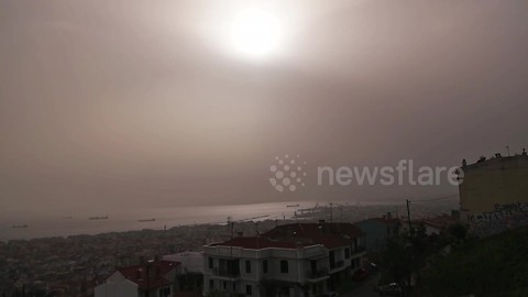 Saharan dust storm causes disruption in Greece