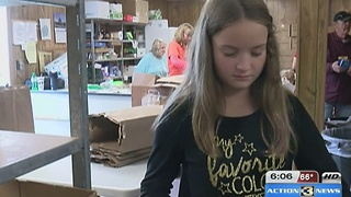 11-year-old raises money for food pantry donations