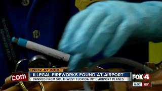 Fireworks don't fly! Pasengers still trying to bring them on board