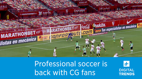Professional soccer is back with CG fans