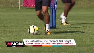 International soccer at Comerica Park tonight - Video