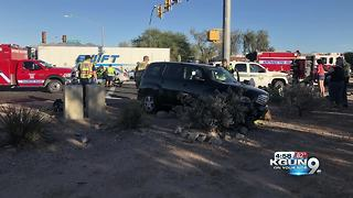 Four patients transported from two-car collision - Video