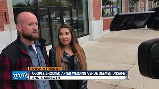 Local couple's wedding venue deemed unsafe - Video