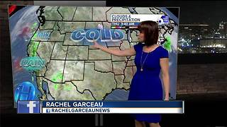 Clouds on the increase Thursday but temperatures stay a bit below average - Video
