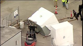 Accident reported at Union Terminal construction site -- Chopper 9 video