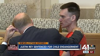 Justin Rey gets nearly 9 years on child endangerment charges