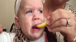 """Baby Tries Lemon For The First Time"""