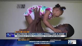 Once homeless family finally has home to call their own