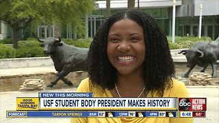 USF's first African-American woman student president elected