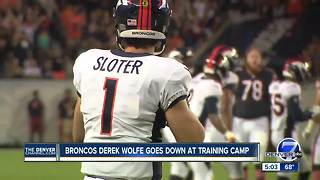 Broncos' Derek Wolfe leaves practice with right leg injury - Video