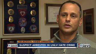 Alleged attacker in UNLV hate crime arrested - Video