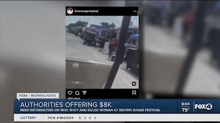 Reward for brown sugar festival shooting