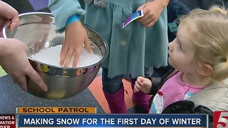 School Patrol: Snow Bubbles At Family Lab - Video