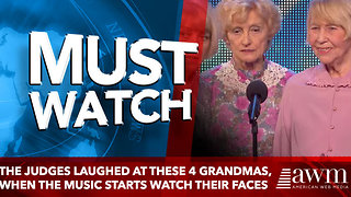 The Judges Laughed At These 4 Grandmas, When The Music Starts Watch Their Faces Closely - Video