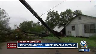 Salvation Army volunteers heading to Texas - Video