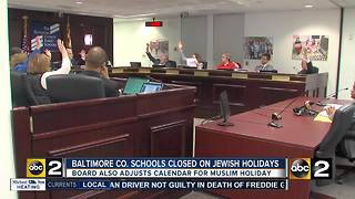 Baltimore County schools to stay closed on Jewish holidays - Video