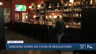 Cracking down on COVID-19 regulations
