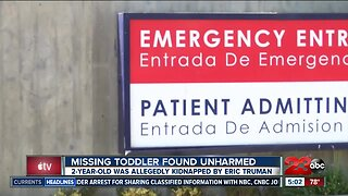 Missing toddler found unharmed