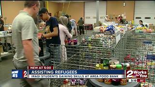 Iraqi students gain skills at area food bank - Video