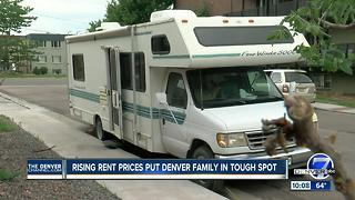 Denver family makes tough choice because rent is too expensive in metro area - Video