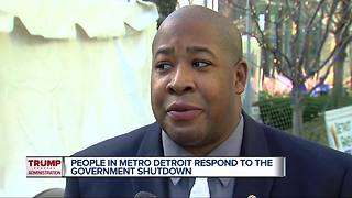 People in Metro Detroit respond to the government shutdown - Video