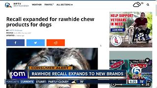 Recall expanded for rawhide chew products for dogs - Video