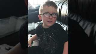 Adorable Brother Sends Sister a Valentine's Day Card - Video