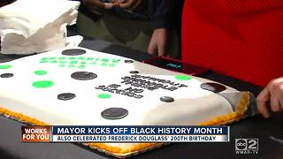 Mayor Catherine Pugh kicks off black history month