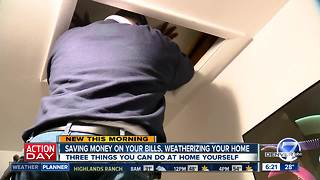 Top three things you can do yourself to weatherize your home - Video