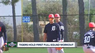 Tigers hold first full squad workout - Video