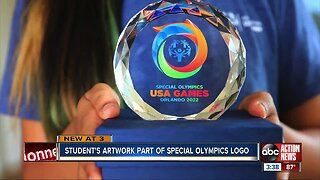 Student's artwork part of Special Olympics logo