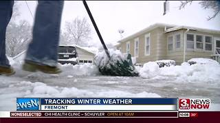 Fremont residents work, play in the snow - Video