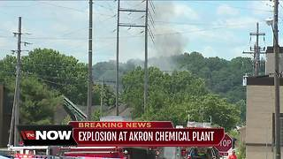 Update on explosion at Akron chemical plant - Video