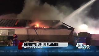 Denny's at Oracle and River catches fire overnight