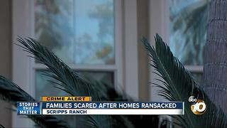 Families scared after homes ransacked - Video