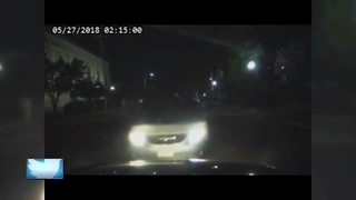 Menasha police car nearly hit by suspected drunk driver - Video
