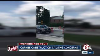 Carmel residents concerned that construction is slowing down emergency crews - Video