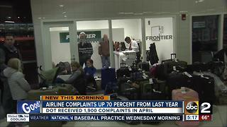 More flight delays, complaints for US airlines