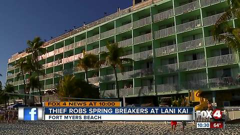 Thief jumps off balcony after stealing items on wild spring break night